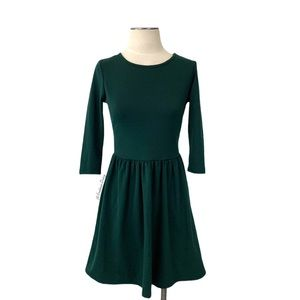 ASOS- Dark Green Fit & Flare Dress Size 4